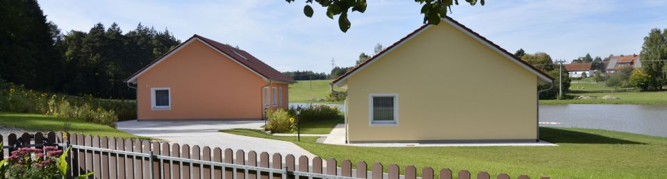 "Our 4* holiday homes ""Hofweiher"" and ""Waldblick"